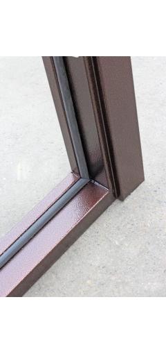 Металлическая дверь с зеркалом ампир